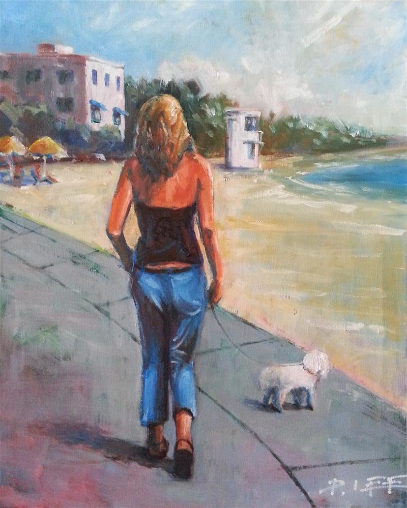 """Laguna Woman"" original fine art by Peter Lee"