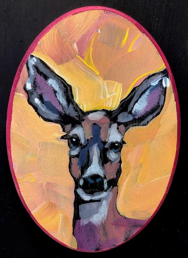 """Tiny Deer"" original fine art by Kat Corrigan"