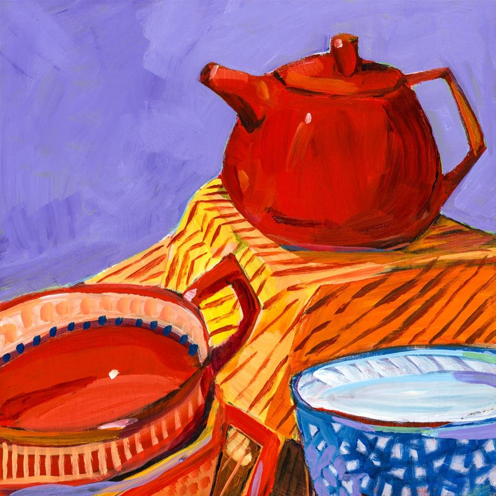 """0656: Tea for a Chilly Morning"" original fine art by Brian Miller"