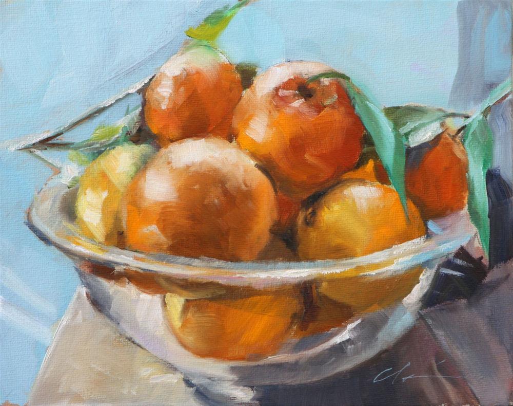 """The Orange Bowl"" original fine art by Clair Hartmann"