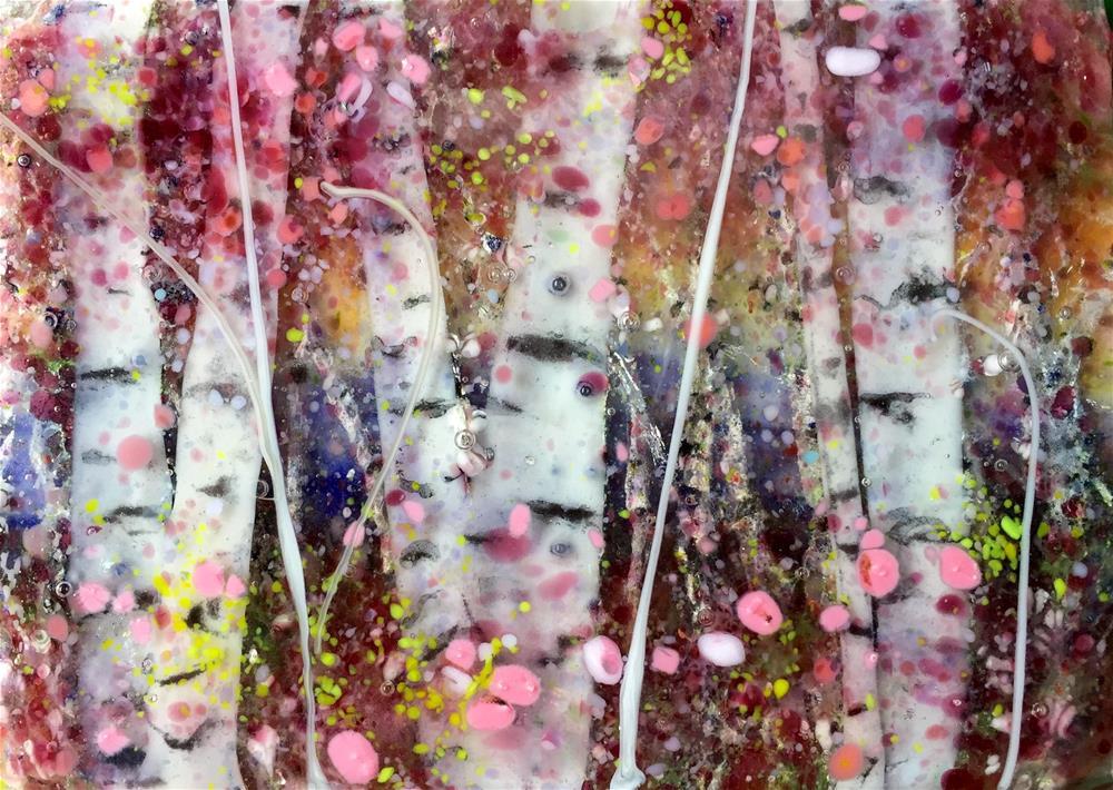 """""""Cotton Candy Forest"""" original fine art by Kristen Dukat"""