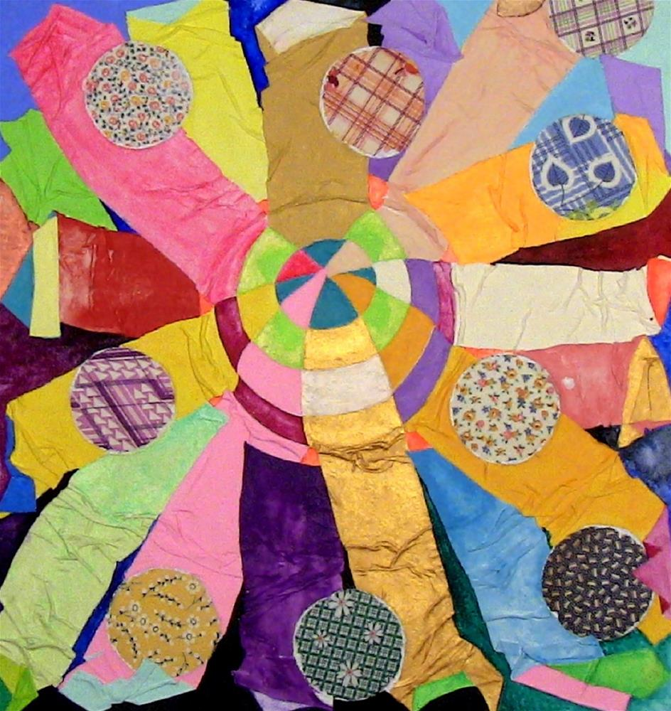 """""""Our Sun with Nine Planets"""" original fine art by Lisa Fulton"""
