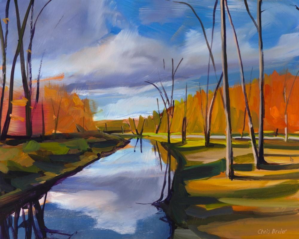 """""""An Afternoon at Akron Falls"""" original fine art by Chris Breier"""