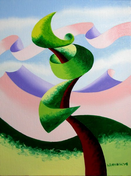 """Mark Adam Webster - Abstract Geometric Landscape Oil Painting 4.4.14"" original fine art by Mark Webster"