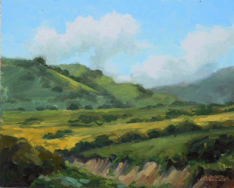 """Mustard In The Canyon"" original fine art by Karen Werner"