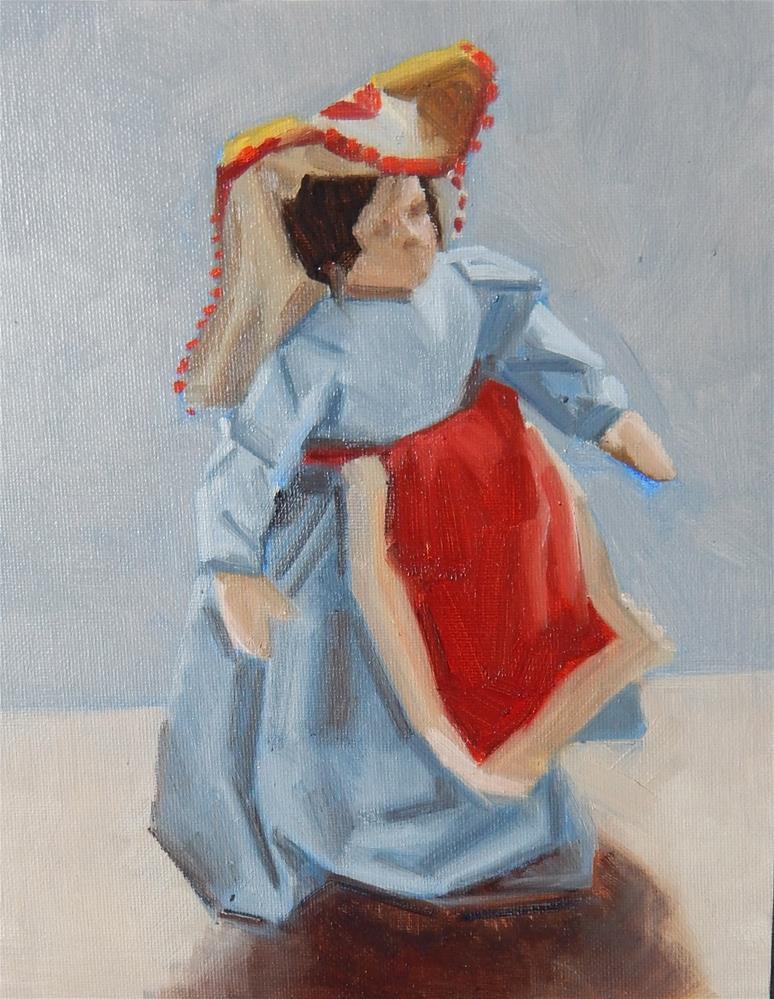 """Doll From Genova"" original fine art by Megan Schembre"
