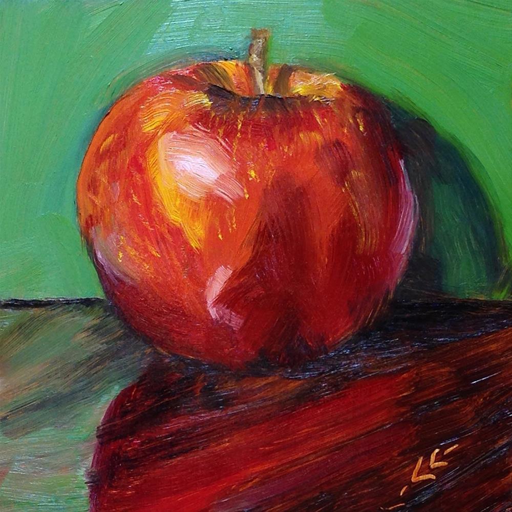 """""""Portrait of an Apple"""" original fine art by Linda Lowery"""