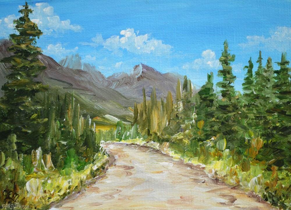 """""""SALE!!!Birkenhead Peak Road"""" original fine art by Gloria Ester"""