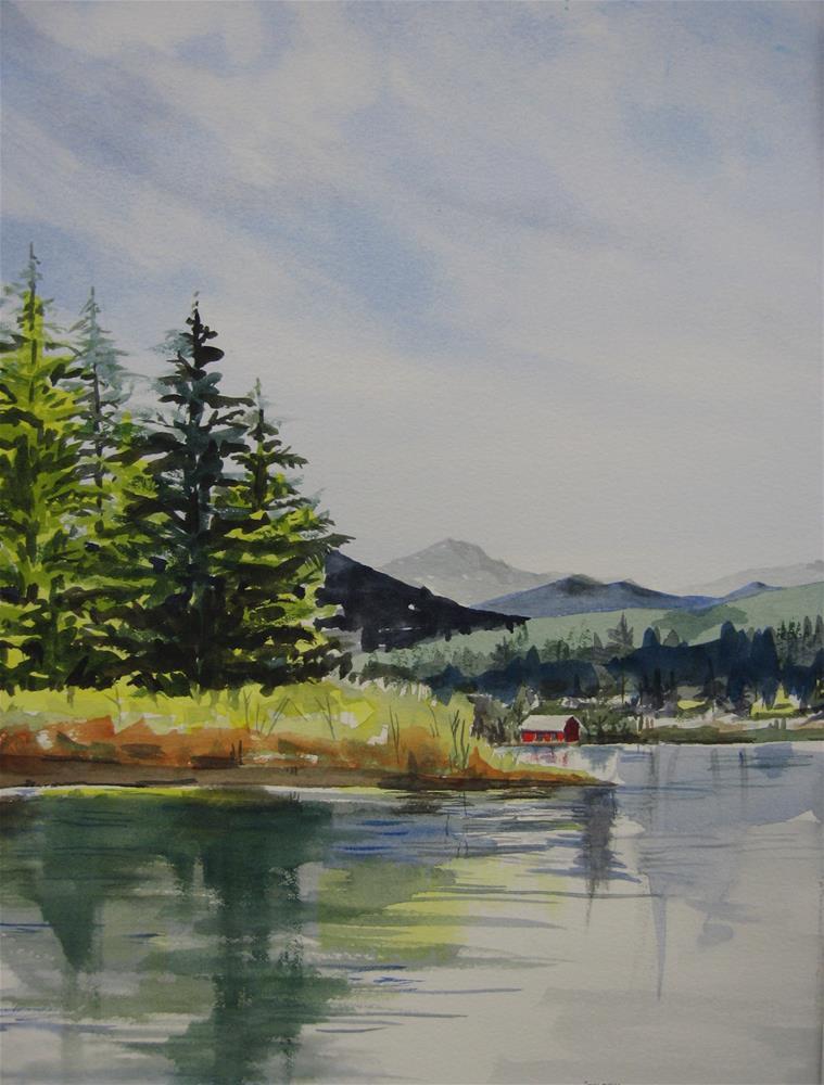 """Midsummer Reflections"" original fine art by Judith Freeman Clark"