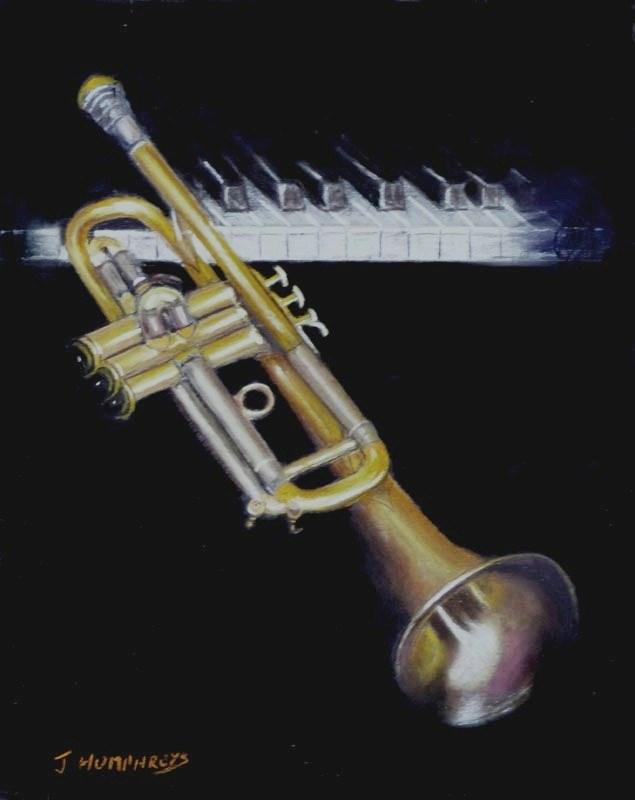 """""""Trumpet AGOGO"""" original fine art by James Humphreys"""