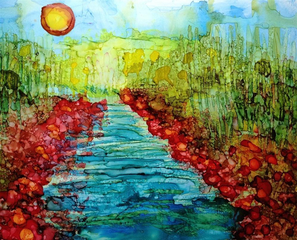 """""""Riverside"""" original fine art by Kelly Alge"""