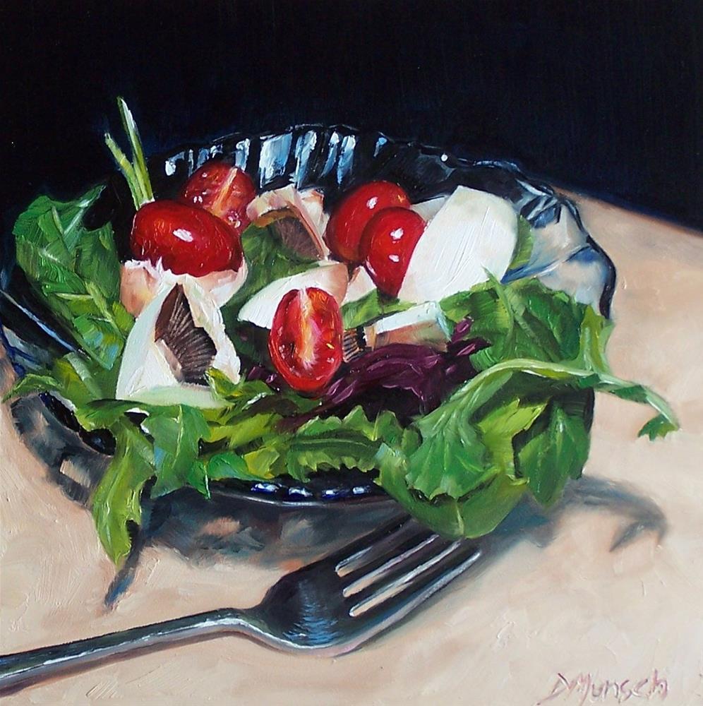 """""""Salad"""" original fine art by Donna Munsch"""