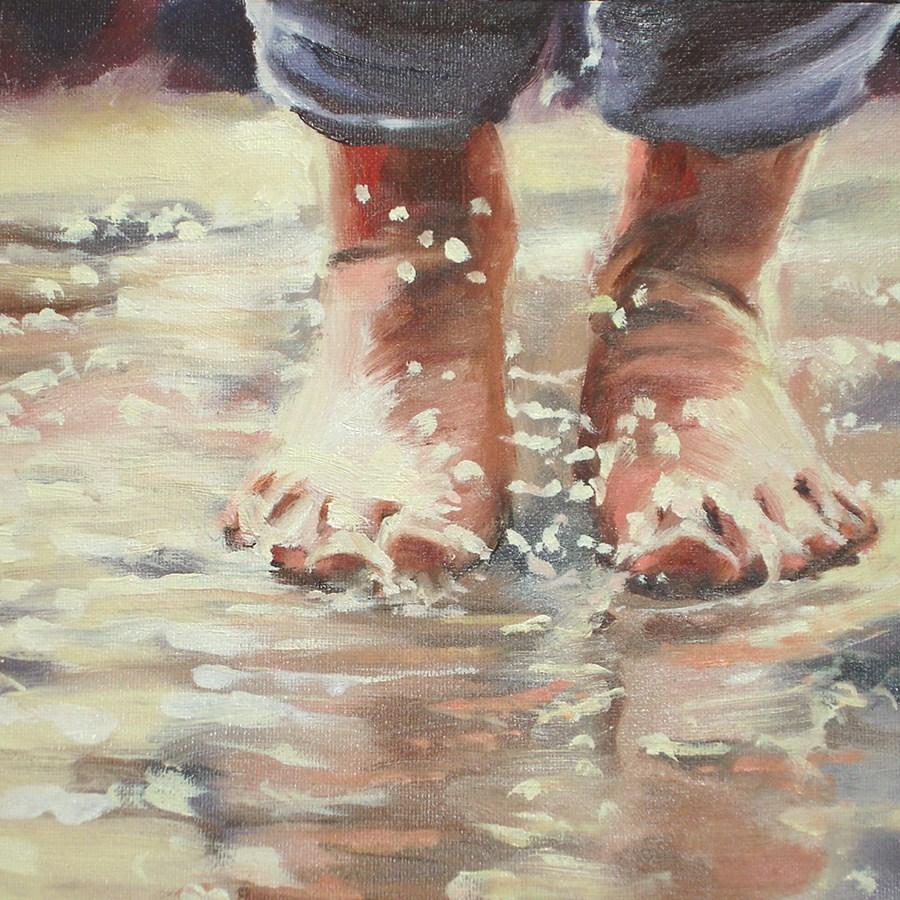"""Puddles"" original fine art by Linda Lowery"