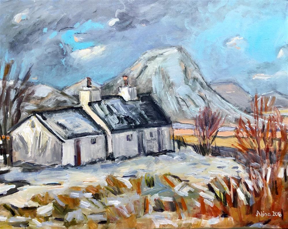 """BlackRock Cottage Glencoe"" original fine art by Alina Vidulescu"