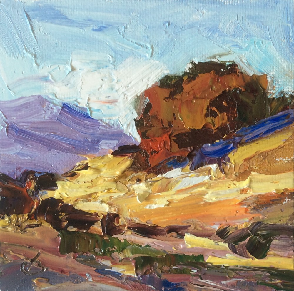 """GOLDEN HILLS"" original fine art by Tom Brown"