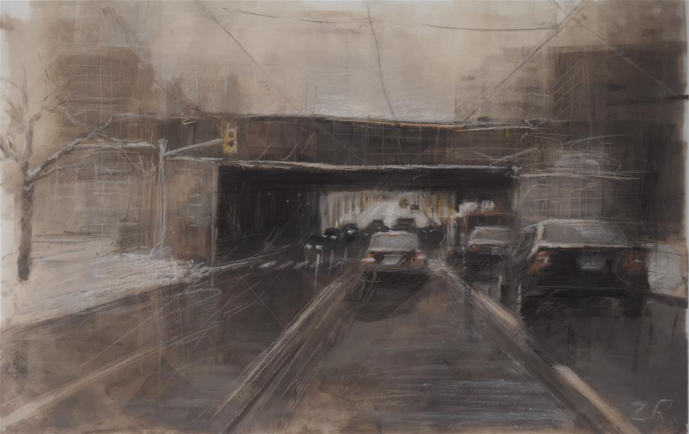 """Through the gate"" original fine art by Zoran Rnjak"