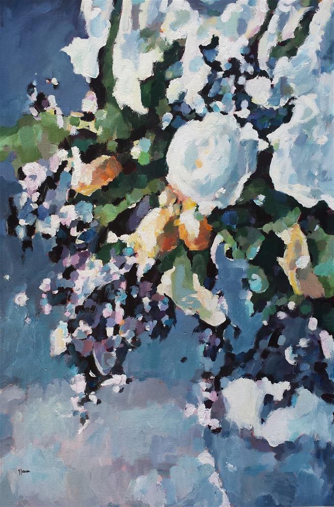 """Honey of a Thousand Flowers"" original fine art by Nava Judith"