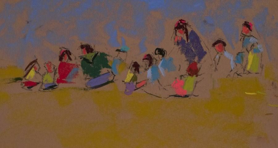 """""""School Forms 2"""" original fine art by karen israel"""