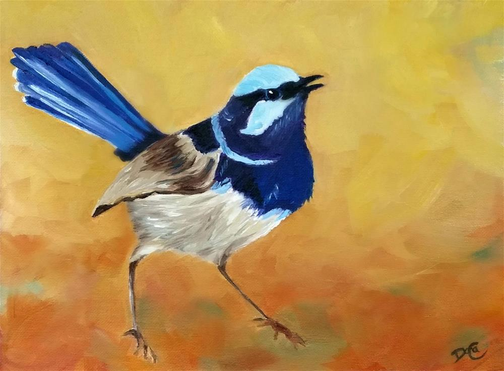 """Blue Ferry Wren"" original fine art by Dana C"