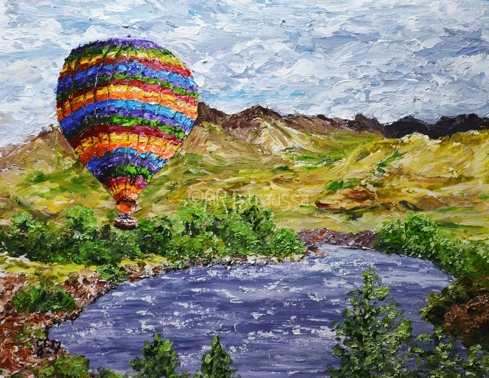 """""""Sale!!! Flying High Over Wyoming"""" original fine art by Gloria Ester"""