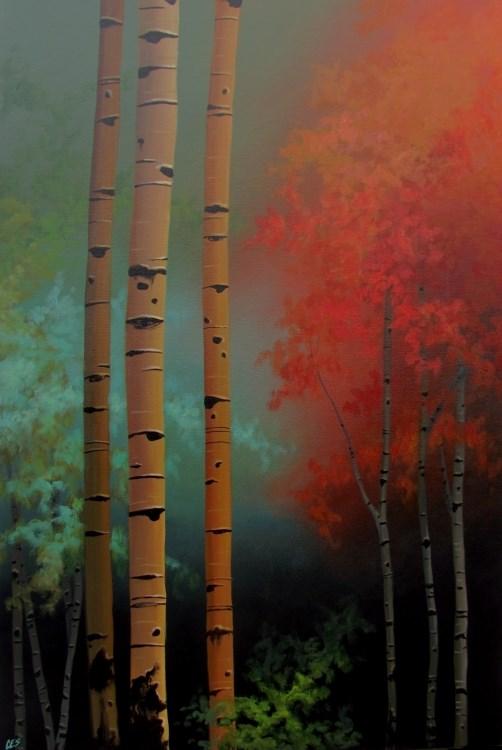 """""""Birch Confetti"""" original fine art by ~ces~ Christine E. S. Code"""