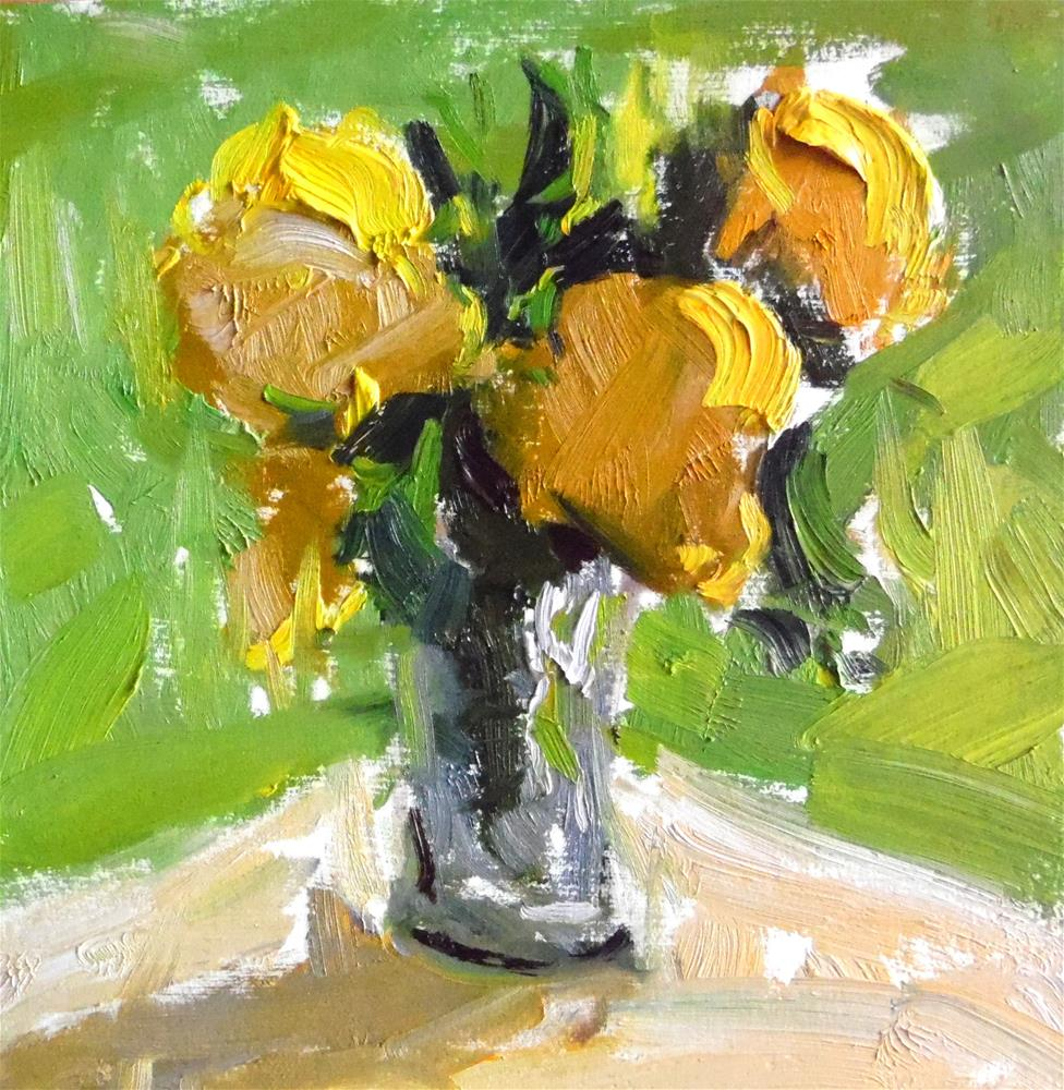 """Yellow Flowers "" original fine art by Michael Clark"