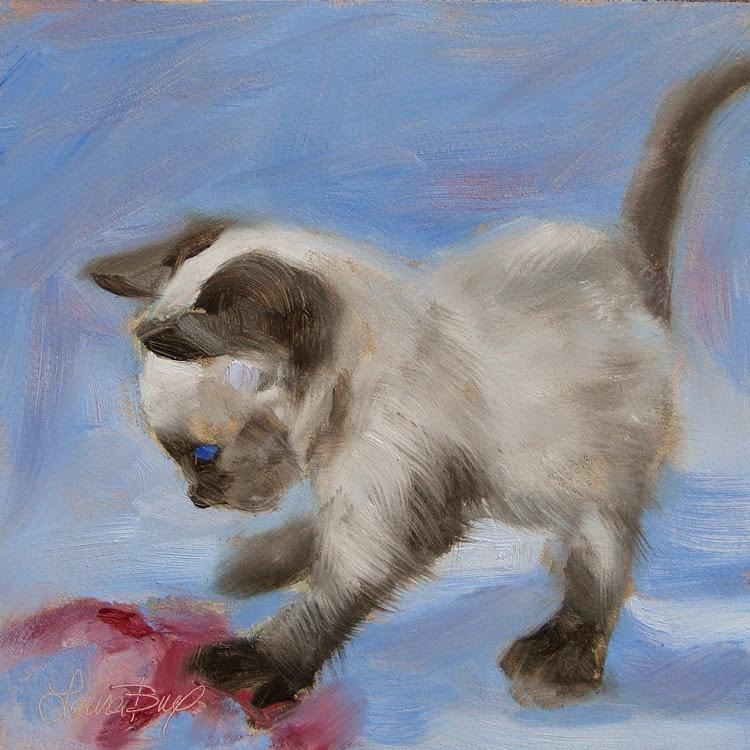 """New Baby - 351"" original fine art by Laura  Buxo"