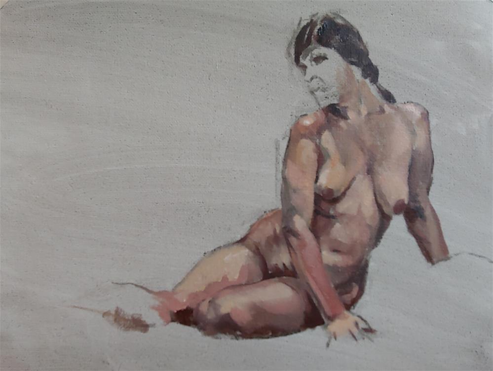 """Pose 1 Open Studio 10/25/19"" original fine art by Edward Watson"