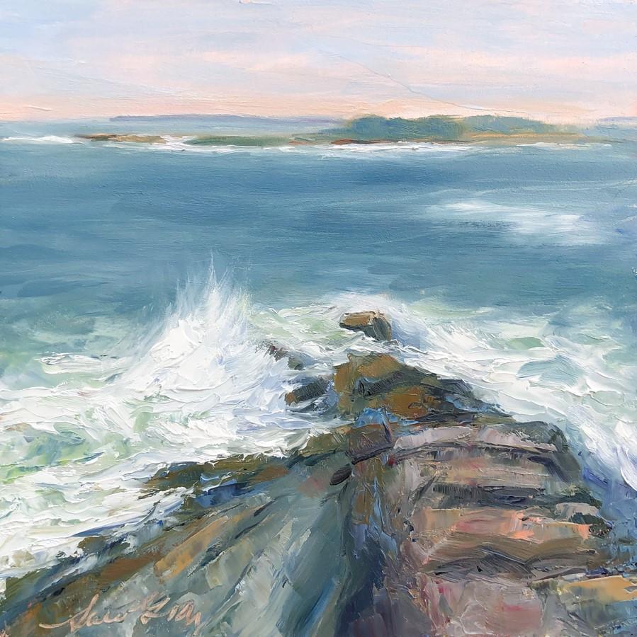 """#134 - Hurricane Teddy Remnants"" original fine art by Sara Gray"