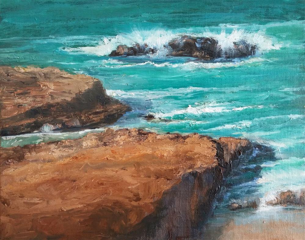 """Laguna Rocks!"" original fine art by Patricia Matranga"