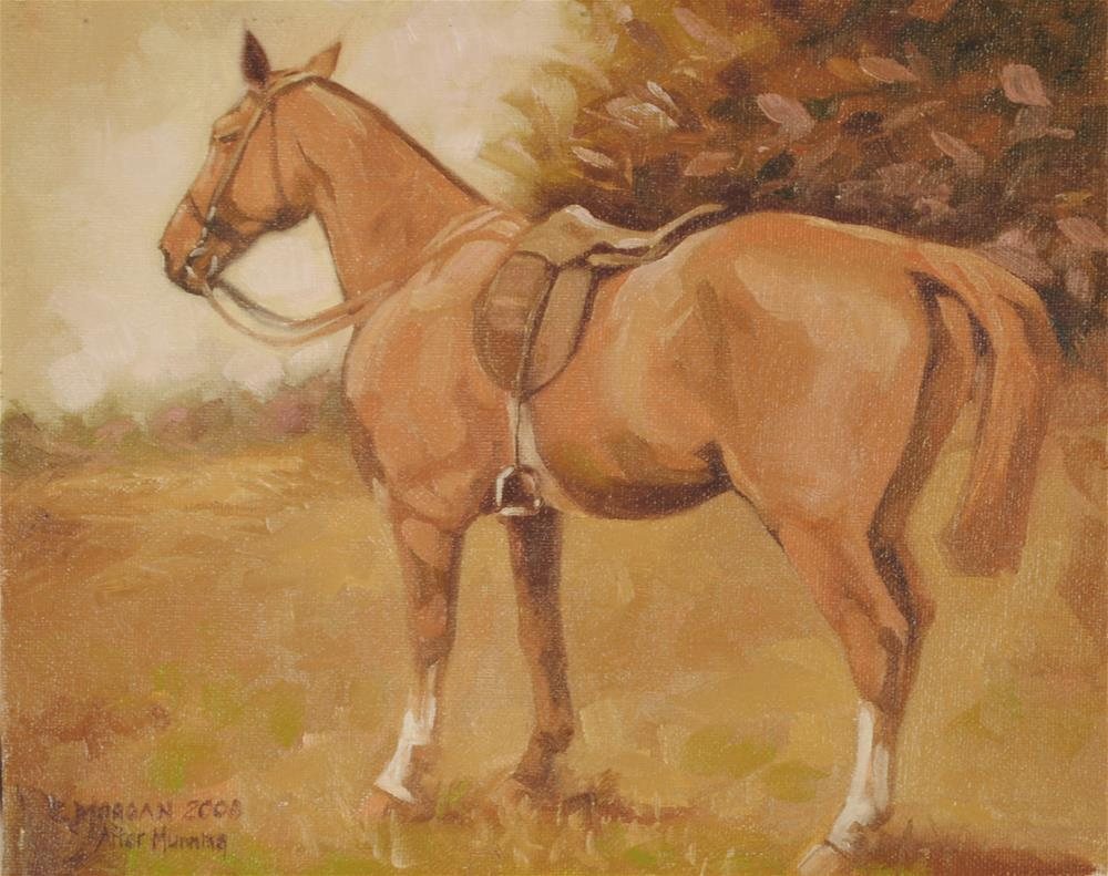 """""""After Munnings"""" original fine art by Cecile W. Morgan"""