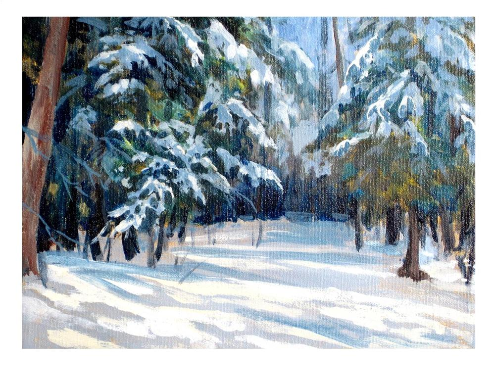 """""""Winter Shadows"""" original fine art by Suzanne Woodward"""