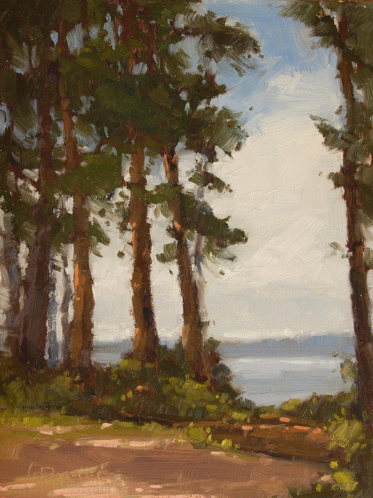"""Woodland Window"" original fine art by Laurel Daniel"