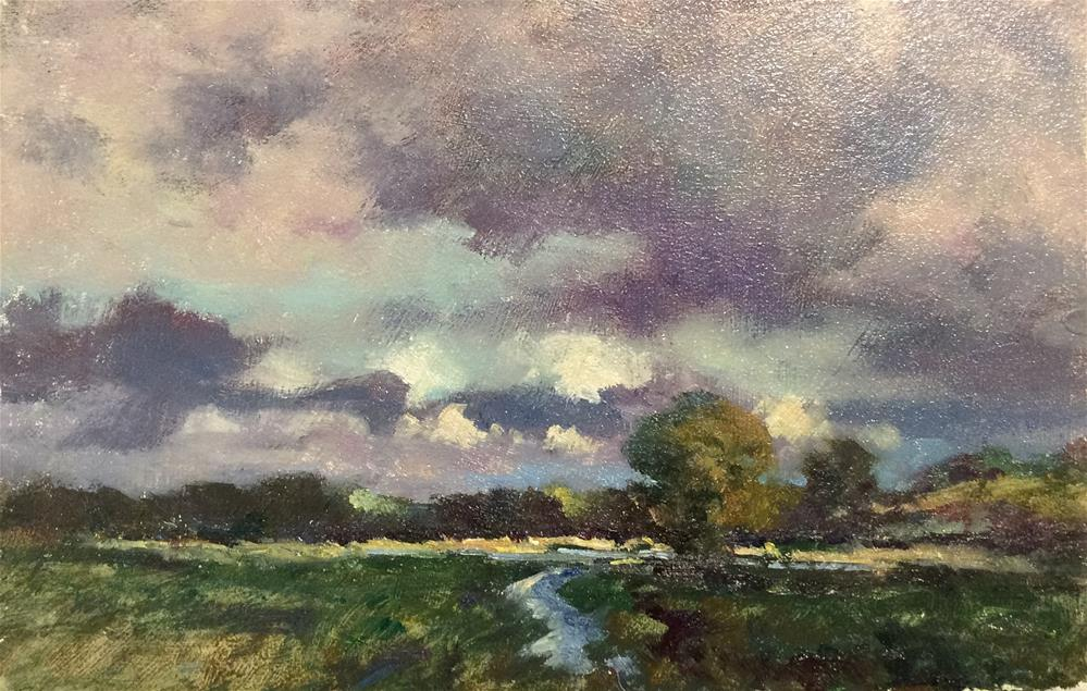 """Suffolk Countryside"" original fine art by John Shave"