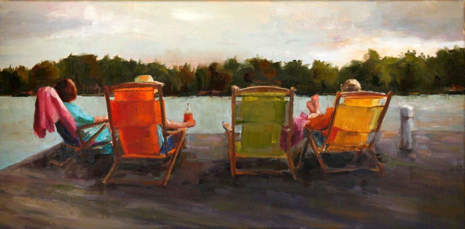 """Close of a good day"" original fine art by Carol Carmichael"