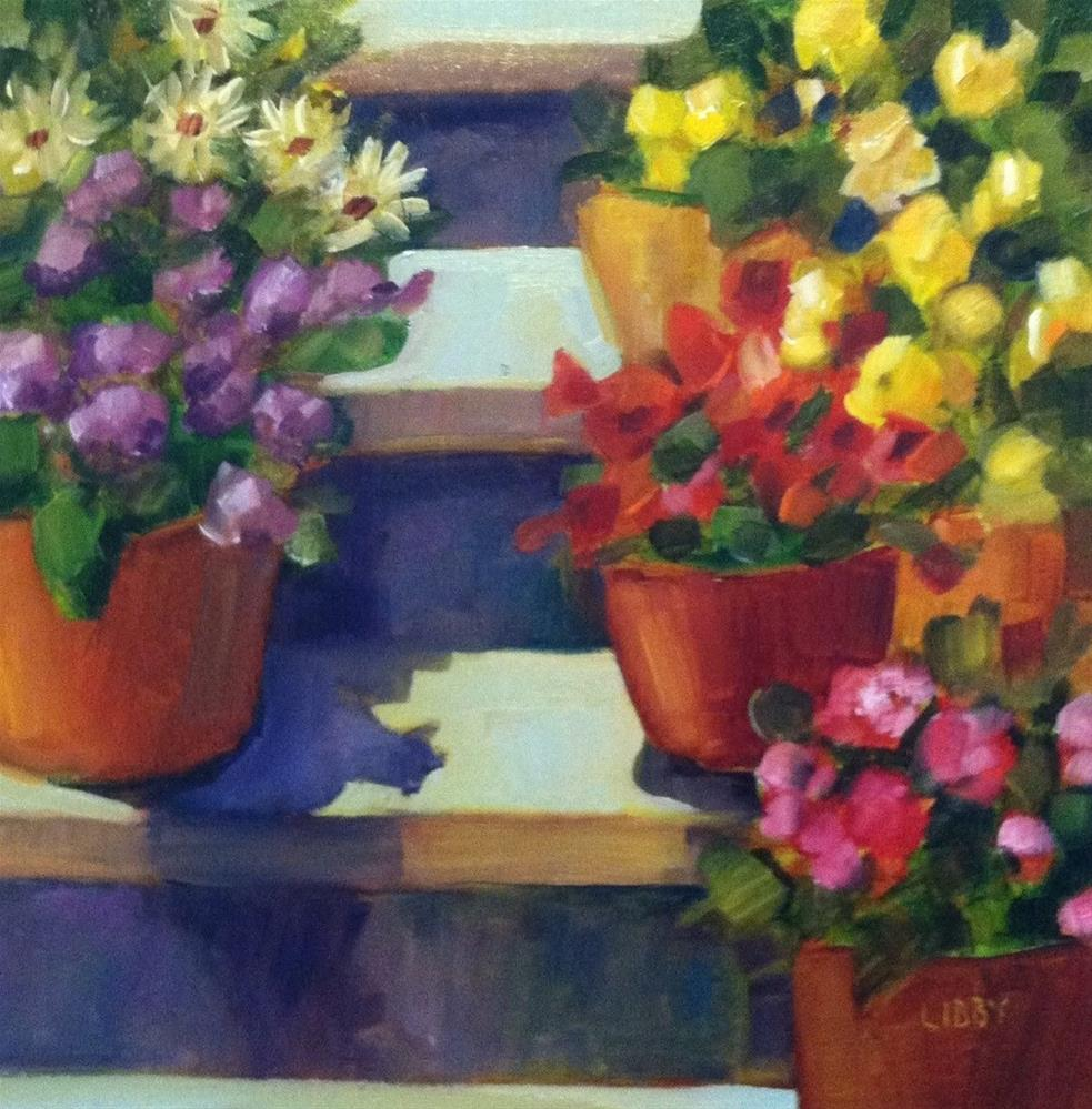 """""""Flower Stage"""" original fine art by Libby Anderson"""