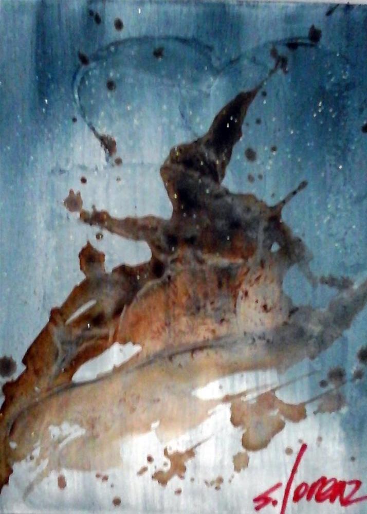 """""""Coffee Spill #1"""" original fine art by Sue Lorenz"""