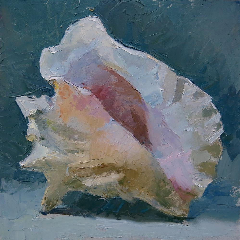 """Conch Shell in Daylight"" original fine art by Taryn Day"