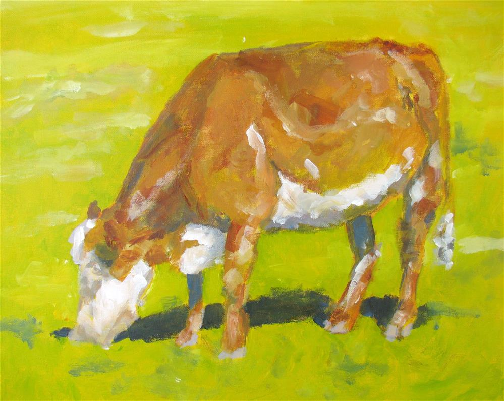 """Hereford on a Sunny Day"" original fine art by Susan Elizabeth Jones"