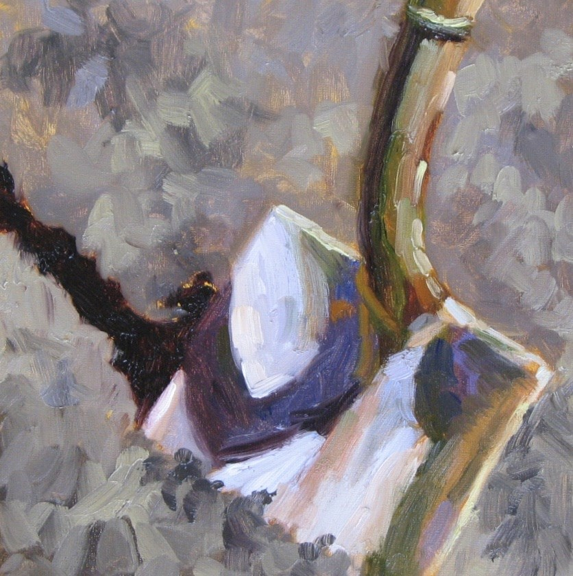 """Square Shovel"" original fine art by Pam Holnback"