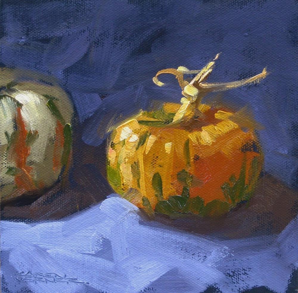 """""""Happy Little Pumpkin"""" original fine art by Karen Werner"""