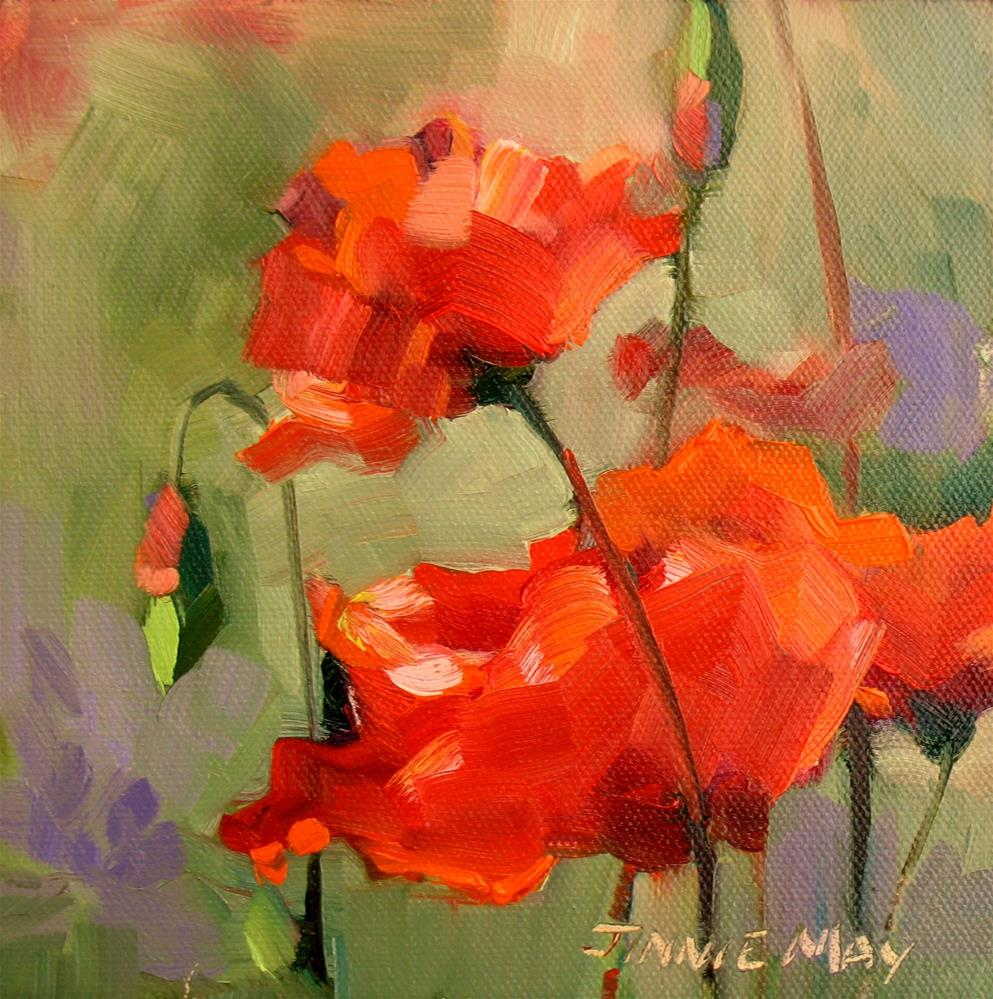 """Poppies- France"" original fine art by Jinnie May"