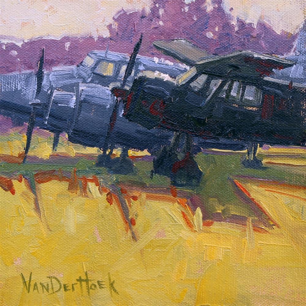 """""""Parked Planes"""" original fine art by Kim VanDerHoek"""