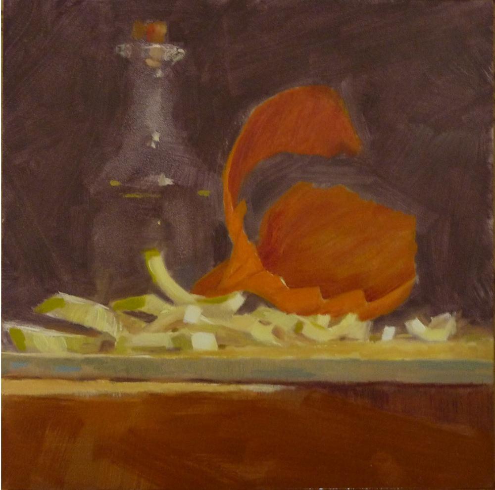 """Chopped Onion"" original fine art by Ron Ferkol"