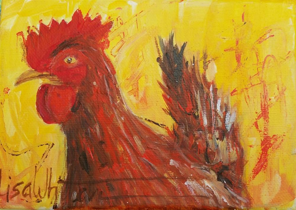 """17 - Bobby McGee"" original fine art by Lisa Rogers"