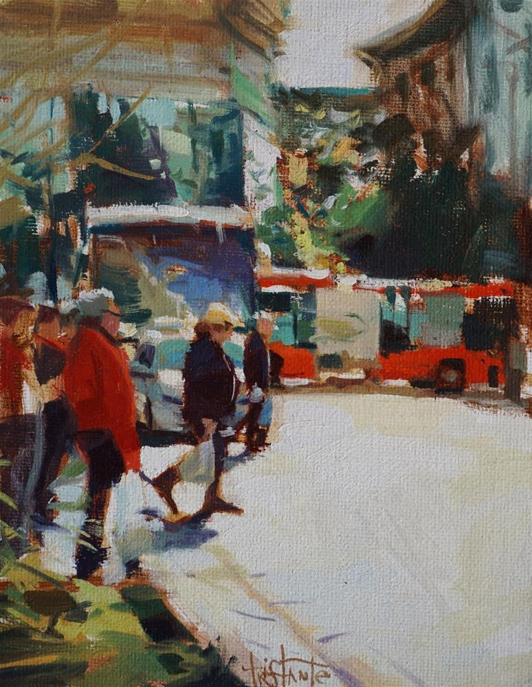 """Crossing the street"" original fine art by Víctor Tristante"