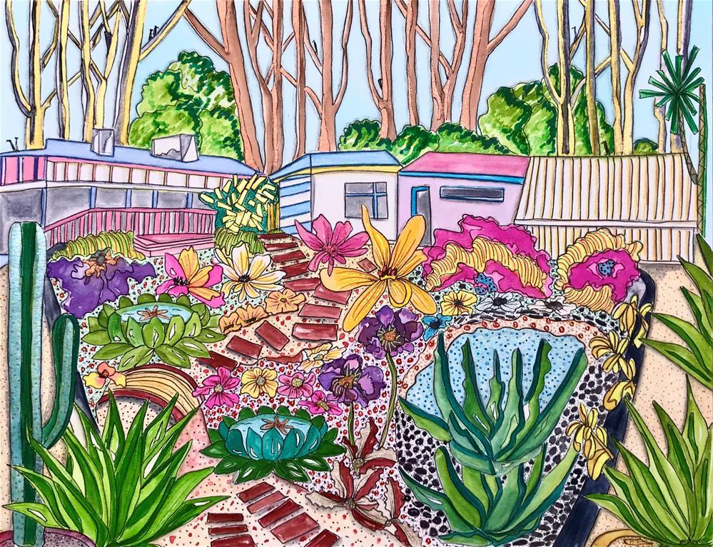 """Magic Garden"" original fine art by Samantha Koehn"