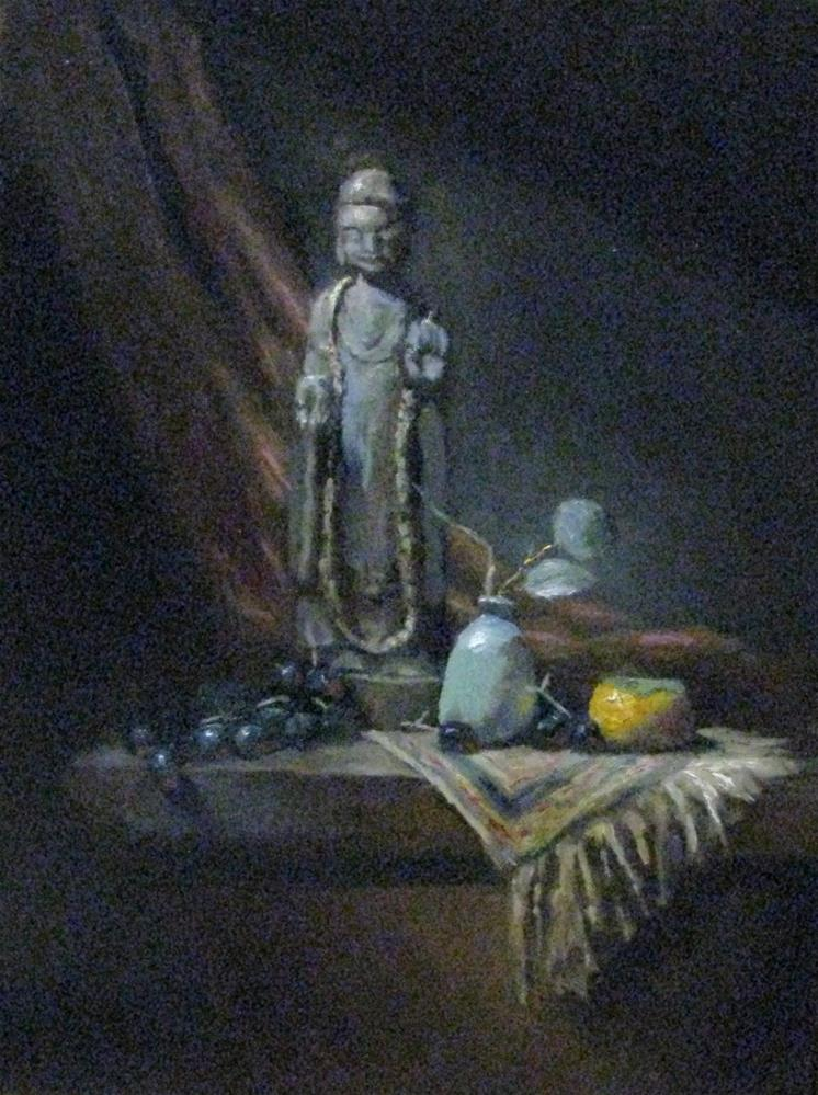 """Mid day light  - study #614"" original fine art by tom dawson"