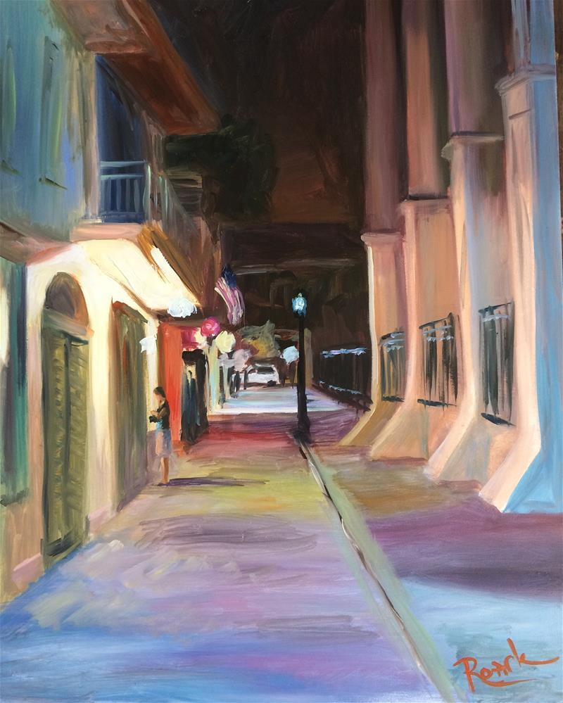 """""""Night In New Orleans"""" original fine art by Carol Roark"""