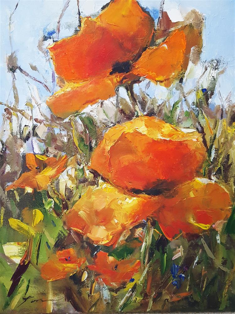 """poppy"" original fine art by Teresa Yoo"